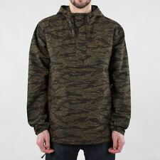 Carhartt WIP Men's Vega Pullover Jacket Camo Tiger Laurel Rinsed Green