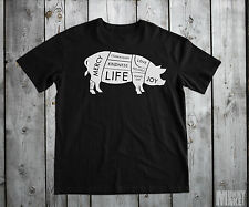 Happy VEGANO Cerdo Camiseta Todas Las Tallas vegetariano Animal Derechos Protest