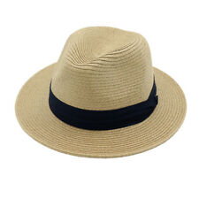 Lady Soft Breathable Straw Hat Summer Beach Jazz Sun Hat Floppy Cap for Outdoor