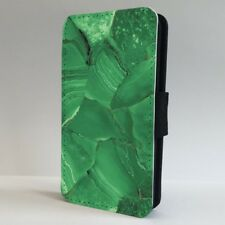 Green Marble Stone Jade Effect FLIP PHONE CASE COVER for IPHONE SAMSUNG