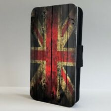 Union Jack Wood Effect British Flag FLIP PHONE CASE COVER for IPHONE SAMSUNG