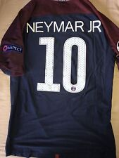 Maillot Foot Neymar Jr PSG Paris Patch Ligue des Champions Version Joueur M