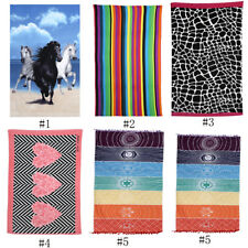 Lightweight Multi-color Large Water Absorbent Soft Bath Beach Towel Quick Dry SS