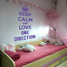 Mantener la calma y el amor One Direction 1d Adhesivo Pared habitación niña