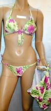 Sans Elle 3 Teile Bikini Set Triangel Top Slip Pareo Mint Grün 34 36 38 Neu