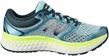 New Balance W1080V7 Womens Cushioned Foam Running Shoes -  Blue/Lime B Width