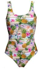 floral TROPICAL EXOTIQUE ANANAS FRUIT OISEAUX motif rayure maillot de bain body