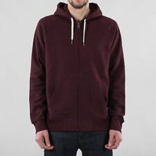 Carhartt WIP Men's Holbrook Cotton Polyester Zipped Hoody Amarone Heather Red