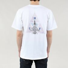 HUF Men's Disaster Ops Triple Triangle Short Sleeve Cotton T-shirt White