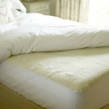 Luxury Mattress Protector Pillow Cover Underblanket Mattress Fitted Bed FLEECE