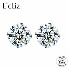 925 Sterling Silver CZ Stud Earrings For Women Jewelry Simple Cubic Zircon Ear P