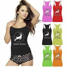 Womens Extreme Hunting Print Vest Top Sports Strappy RacerBack Club Fancy Dress