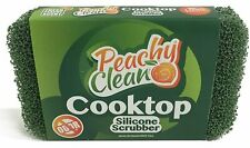Peachy Clean Antimicrobial Glass Cooktop Stove Silicone Cleaning Scubber Sponge