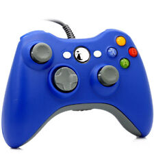 UK BLUE Xbox 360 Controller USB Wired Game Pad For Microsoft Xbox 360 Windows PC