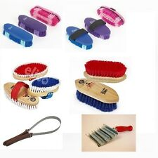 Grooming Brushes - Body Brush/Dandy/Curry/Hoof Brushes/Shedding Blade/Oil Brush