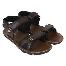 Axter Men's Canvas PVC Sole Slip On Brown Sandals & Floaters (938)