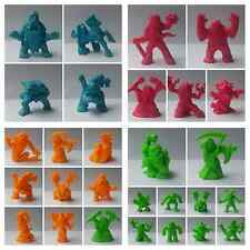 Monster in my pocket MIMP series 2 - Figure colors: green, orange, cyan, magent