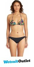 2017 Billabong signore Sol Ricercatore Low Rider Bikini Bottom in Black Sands C3