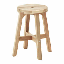 Ikea SKOGSTA Acacia Wood Dining Stool For Dining Room,Bar,Kitchen,Garage,45 cm