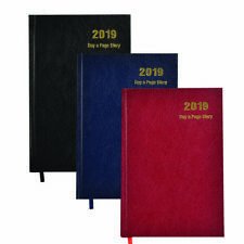 2019 Diary, A4/A5 Day to A Page - Week to View,Hardback Cover Diary