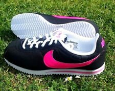 Nike Classic Women's Cortez Trainers Shoes Black / Pink Size UK 5