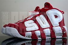 Nike AIR MORE UPTEMPO 7 8 9 10 11 12 13 SUPREME RED WHITE air max force suptempo