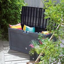Outdoor Garden Plastic Storage Utility Chest Cushion Shed Box Garden Furniture