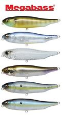 MEGABASS GIANT DOG-X TOPWATER BASS STRIPER FISHING LURE SELECT COLOR