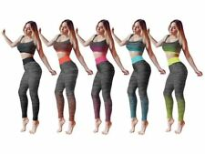 Ladies Gym Suit Exercise Sports Zone Crop Top Active Wear One Size Regular