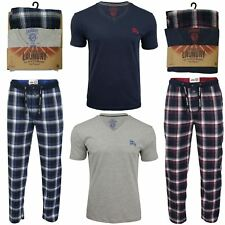 Mens Tokyo Laundry Pyjama Set with Check Bottoms & Short Sleeved Top