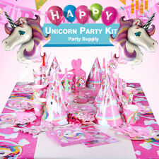 Birthday Decoration  Unicorn Party Supplies Set With  Disposable Tableware