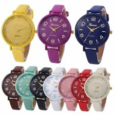 Women Casual Checkers Faux Leather Quartz Analog Wrist Watch Luxury Pulseira Rel