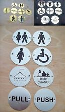 ROUND CIRCLE -toilets pub shop schools hotels business signs sign notice plate