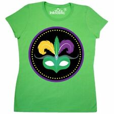 Inktastic Mardi Gras Holiday Mask Party Parade Women's T-Shirt Gold Green Purple