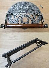 LARGE KITCHEN ROLL HOLDER -cast iron rustic vintage old country cottage style