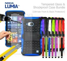 NOKIA LUMIA 730 anti-urto CORAZZA CUSTODIA COVER , STILO & VETRO TEMPERATO