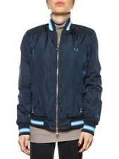 FRED PERRY BOMBER 31732065 BLU Giacca Bomber Donna