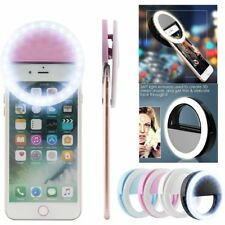 Selfie LED Light Ring Flash Fill Clip Camera For Phone &Tablet iPhone Samsung UK