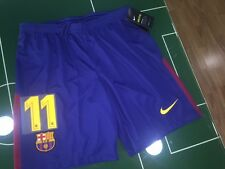 FOOTBALL SHORTS SHORTS NIKE 2017/2018 DEMBELE BARCELONE 11 HOME BLAU