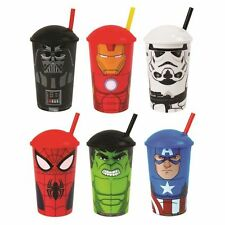 Licensed Tumblers With Straws Darth Vader Storm Spider-Man Iron Man Hulk Captain