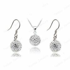 AENINE New Style Crystal Jewelry Sets Mix Colors Pendant Drop Earrings Micro Pav