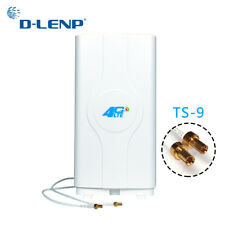 Dlenp 4G Lte Mimo Antenna 700-2600Mhz With 2- Ts9 Male Connector Booster Panel A