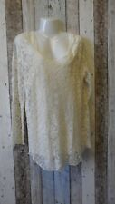 Club L Embroidered Long Sleeve Tunic Cream Size 16 (4033450 loc 42)