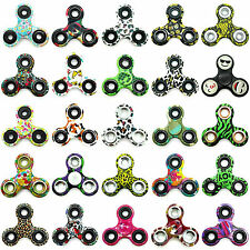 Mano Spinner Smiley FILATOIO MANUALE Fidget ANTI-STRESS dita Toy CAMO fiori