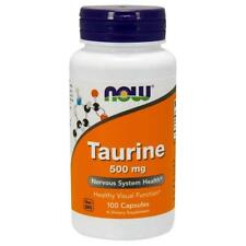 Now Foods, Taurine, 500 mg, 100 Capsules