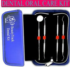 Dental Tooth Cleaning Kit 4Pcs Dentist Scraper Pick Tool Calculus Plaque Remover