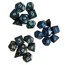 Dice Acrylic Pearl Round Corner Table Games Party Set Nickel Accessories 7pcs