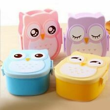 Cartoon Owl Lunch Boxs Food Fruit Storage Container Portable Bento Box Safe Food