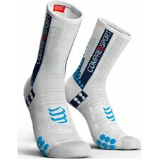 Compressport Calcetines Pro Racing Socks V3.0 Bike Blanco-Azul