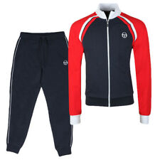 Sergio Tacchini Mens Ghibli Full Tracksuit Top & Bottom Navy/Red Brand New SS18